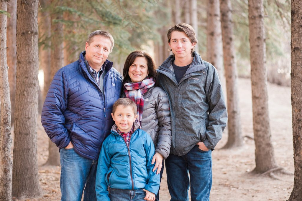 family of 4, fall family photos