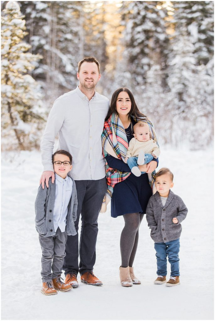 family of 5, winter family photos