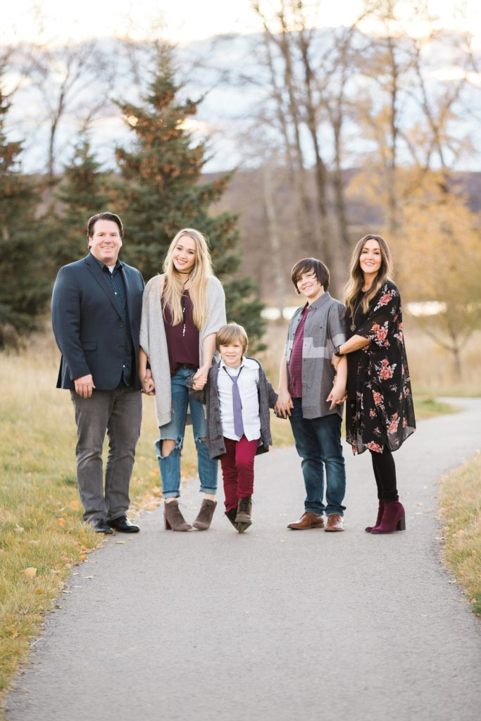 fall family photos, Fish Creek Park,